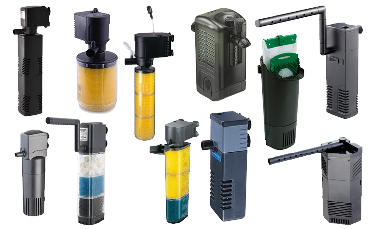 tipos de filtro interno de aquário